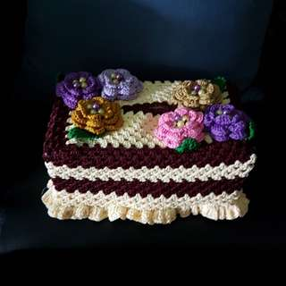Handmade Crochet Tissue Box Holder