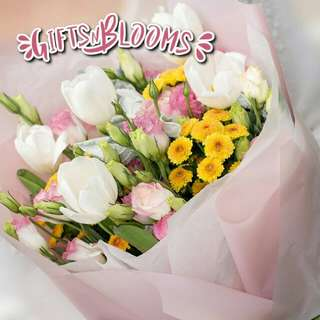 Fresh Flower Bouquet Surprise for Special Anniversary Birthday Gift V120 - HOUSM