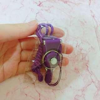 全新 紫色手機掛繩