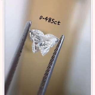 蝴蝶形鑽石切割裸石💎天然異形鑽石Fancy Shape