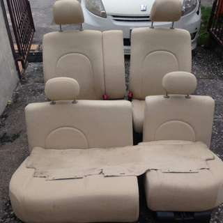 Seat sambung cream bench style for myvi