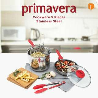 Primavera Cookware 5 pcs Stainless Steel
