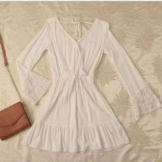H&M White Coachella Dress