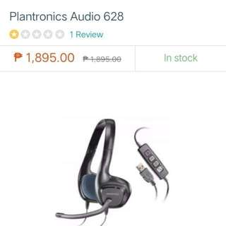 Plantronics Audio 628 Stereo USB Headset (Black)