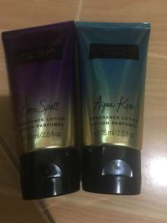 victoria secret lotion aqua kiss and love spell