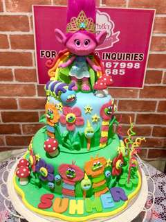 Trolls Themed Cake