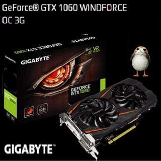 Gigabyte GTX 1060 WINDFORCE OC 3G  GeForce®..(Ex-Stock Today)
