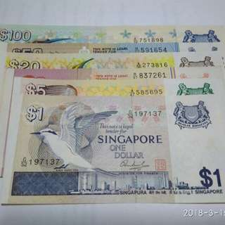 Singapore Old Bird Note $1-$100