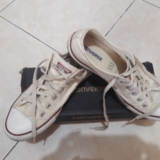Authentic white Converse sneakers