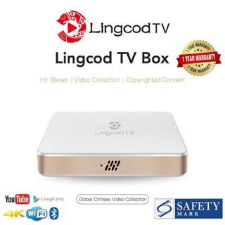 [Original licensed 3 Years Subscription] Lingcod TV LS5 VP9 3D Android 6.0 Chinese IPTV S905X Quad Core H.265 UHD 4K FREE 4GB SD Card fully loaded with APK File