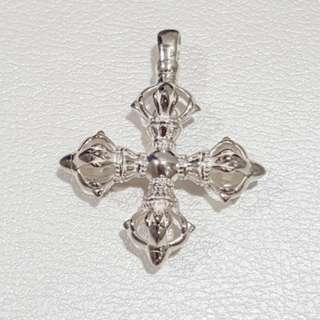 Double Dorje Pendant (Silver)