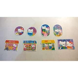 日本HELLO KITTY  盖銷郵票