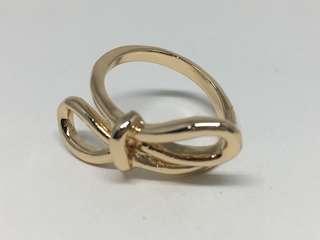Gold Bow Ribbon Ring