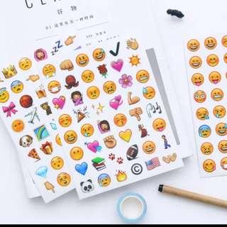 家居生活系列 4pcs sets emoji貼