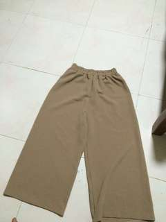 Brown nude Culottes