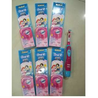 Oral B battery powered toothbrush Disney princess theme