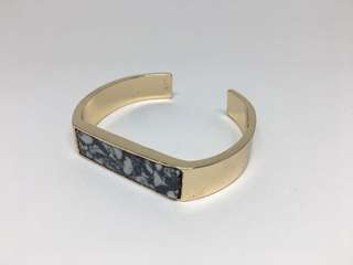 Marble Panelled Gold Cuff
