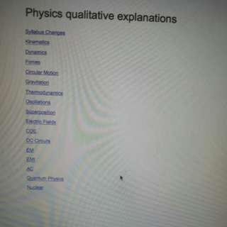 RI Physics Qualitative explanations for TYS