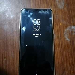 Samsung a8 Gold brandnew FU complete package