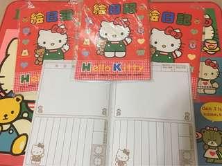 sanrio hello kitty日記簿