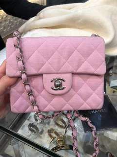 Chanel pink 17cm bag
