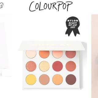 colourpop 眼影盤 yes please