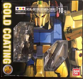 全新日版HCM PRO高達Gundam MSN-00100 HYAKU-SHIKI 百式Gold Coating 1/200scale