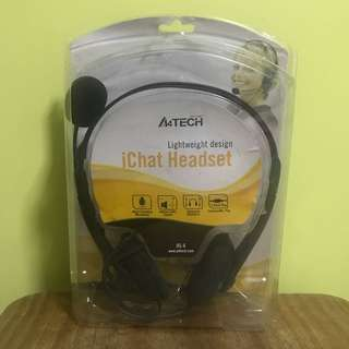 A4Tech®️ HS-6 iChat Lightweight Headset in Black