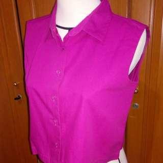 Crop top (shirt) fuchsia