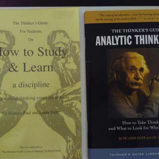 The Thinker's Guide to How to Study and Learn