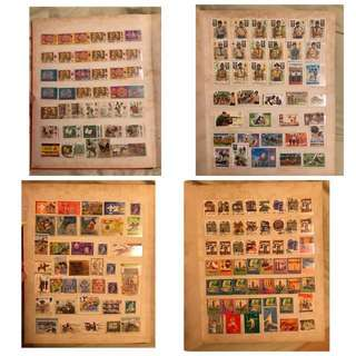 Vintage world wide stamps