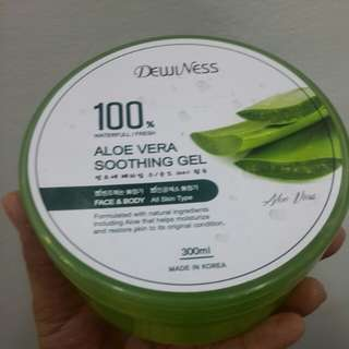 Soothing gel, gives ur skin moisture