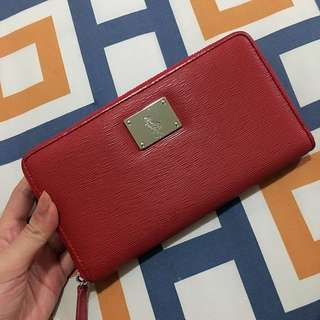 RALPH LAUREN LEATHER ZIP WALLET
