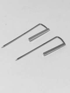 Silver Minimalist Bar Earrings