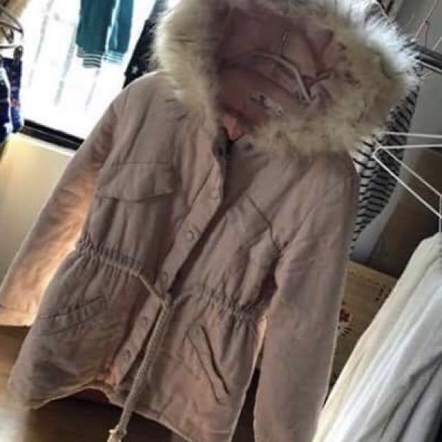 🔻50%/粉色毛毛厚外套