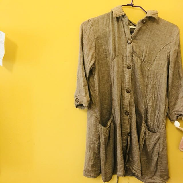 文青氣質棉麻襯衫