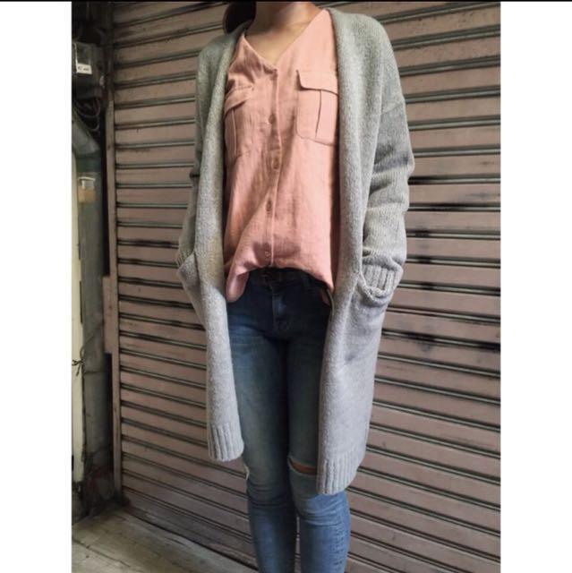 轉賣 韓國 長版 毛衣外套