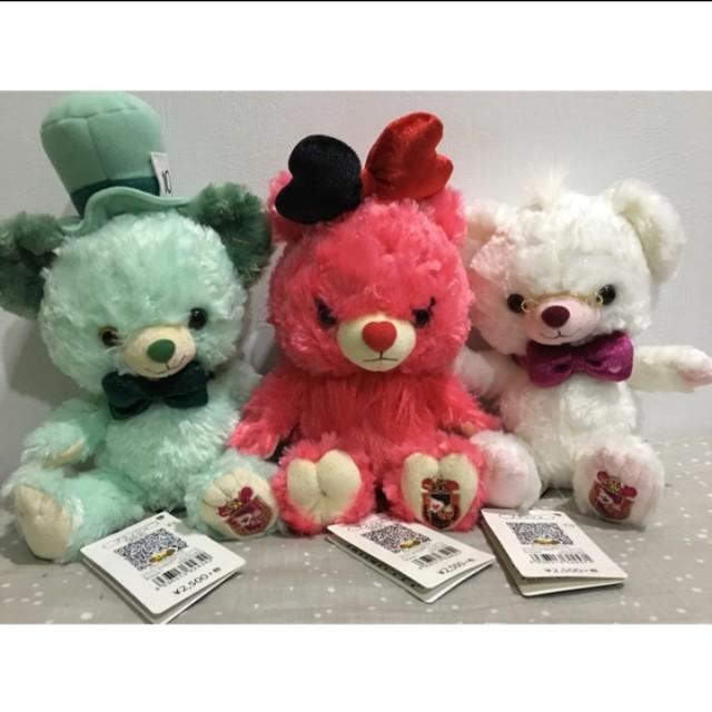 🎌東京迪士尼 時間兔 瘋帽 紅心皇后 妙妙貓 大學熊 娃娃