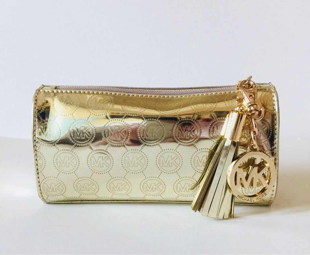 全新 絕對正品 Michael Kors Clutch Bag 金色手袋