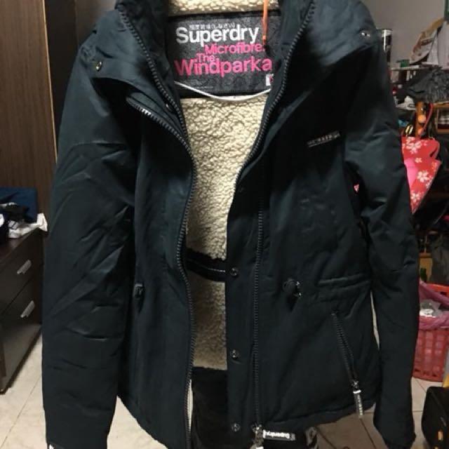極度乾燥熊寶寶外套 靛藍色外套 XS