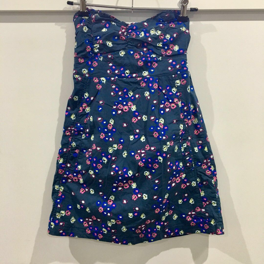 Abercrombie & Fitch Strapless Floral Dress