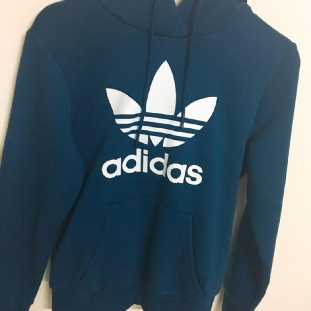 Adidas Original 藍色帽T