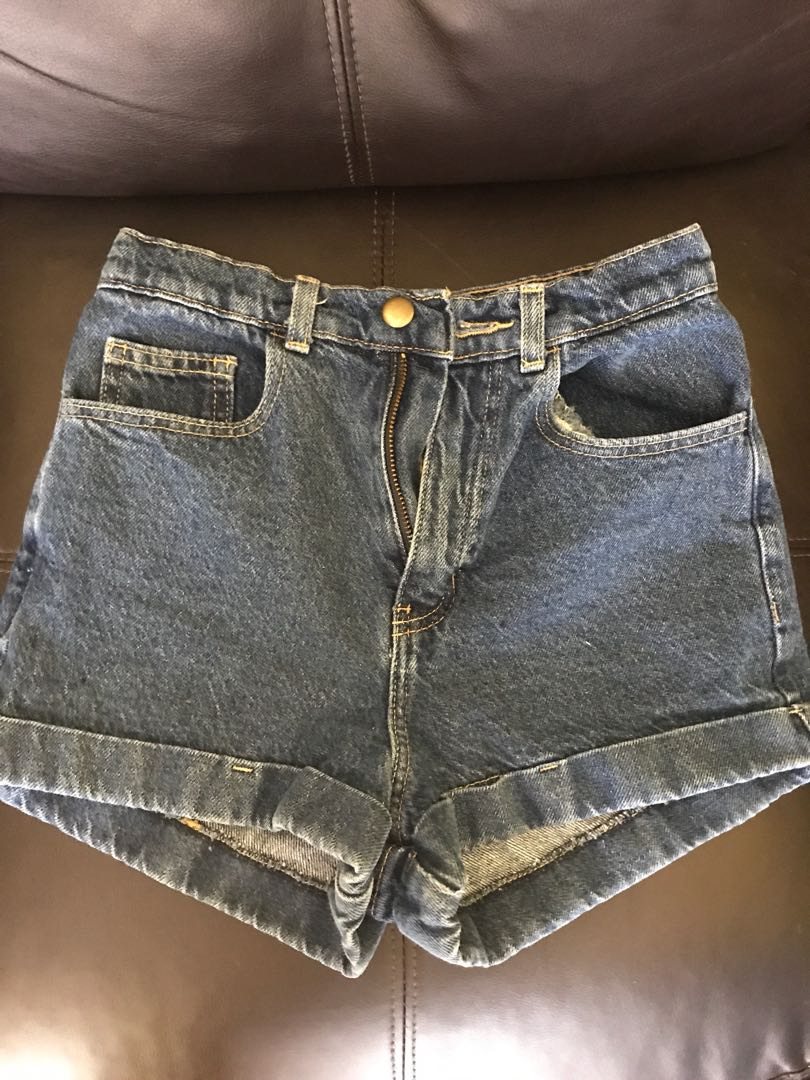 American Apparel high wasted jean shorts - size 25