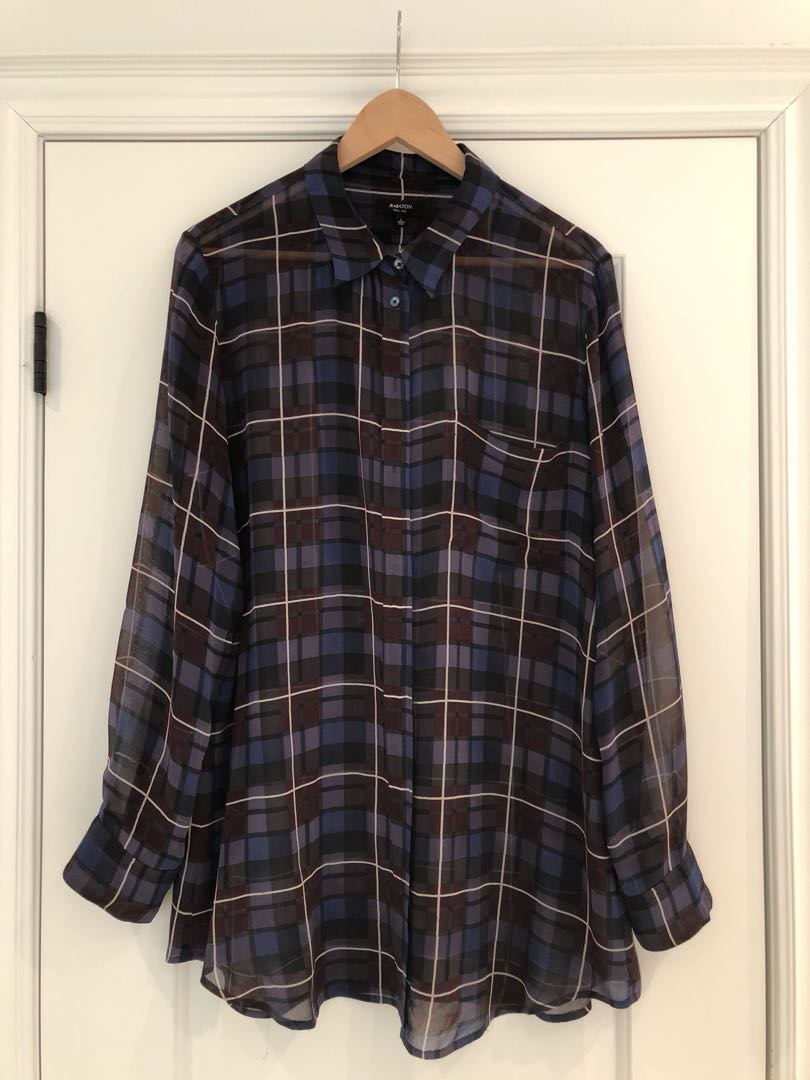 Aritzia Babaton silk shirt