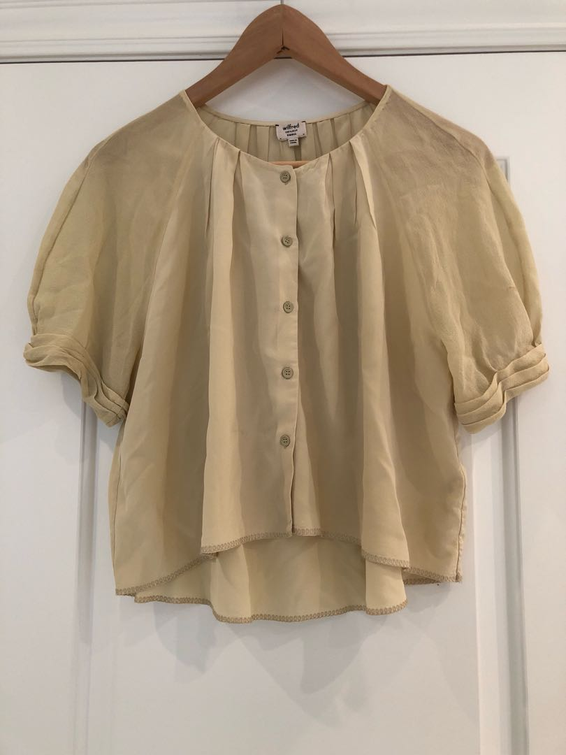 Aritzia Wilfred silk top