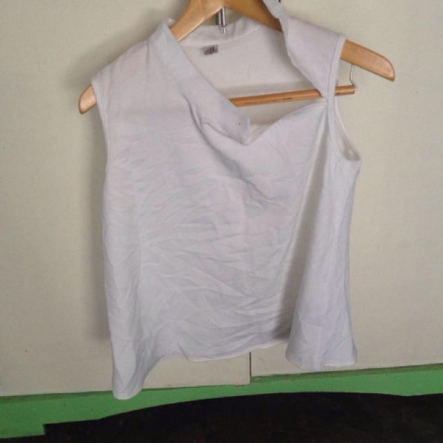 Authentic Zara chineese collar top
