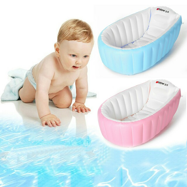 Baby Inflatable Bathtub Portable Infant Toddler Non Slip Bathing Tub ...