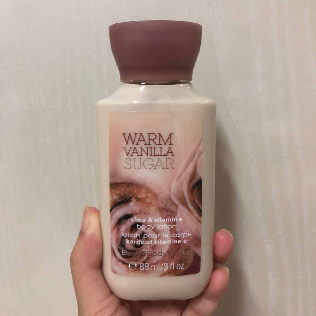 Bath & Body Works Warm Vanilla Sugar Shea & Vitamin E Body Lotion, Health & Beauty, Bath & Body on Carousell
