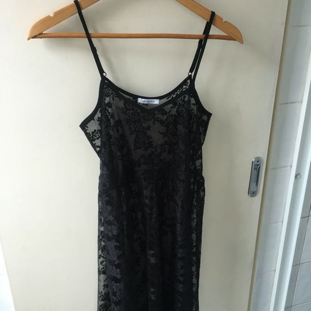 Black Lace Festival Maxi Dress