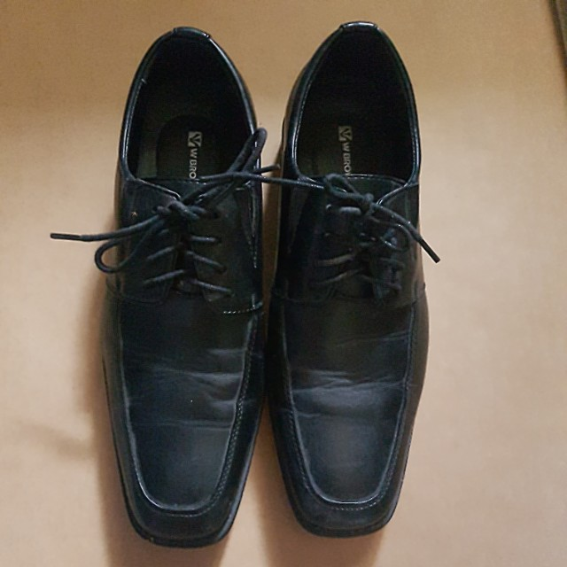 Black Office Shoes size US 6 or EU 39W Brown with shoelace